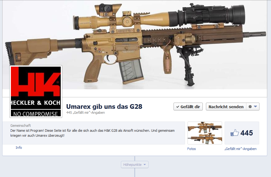 umarex g28 facebook site
