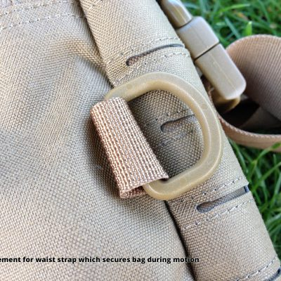 Direct Action Messenger Bag Review Helikon - Attachement for waist strap which secures bag during motion
