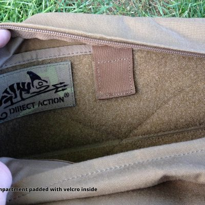 Direct Action Messenger Bag Review Helikon - Big compartment padded with velcro inside
