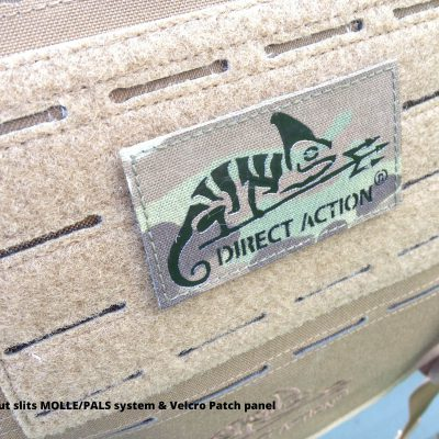 Direct Action Messenger Bag Review Helikon - Laser-cut slits MOLLE PALS system Velcro Patch panel