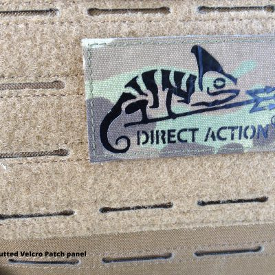 Direct Action Messenger Bag Review Helikon - Laser-cutted Velcro Patch panel