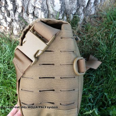 Direct Action Messenger Bag Review Helikon - Side View - Laser-cut slits MOLLE PALS system