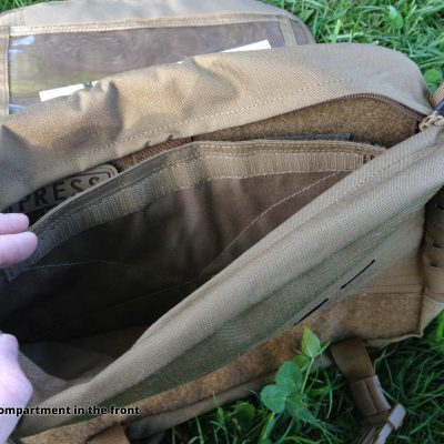 Direct Action Messenger Bag Review Helikon - Small compartment in the front