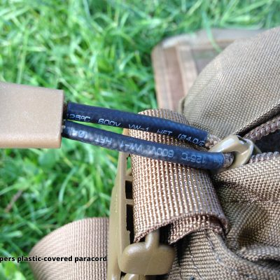 Direct Action Messenger Bag Review Helikon - YKK zippers plastic-covered paracord