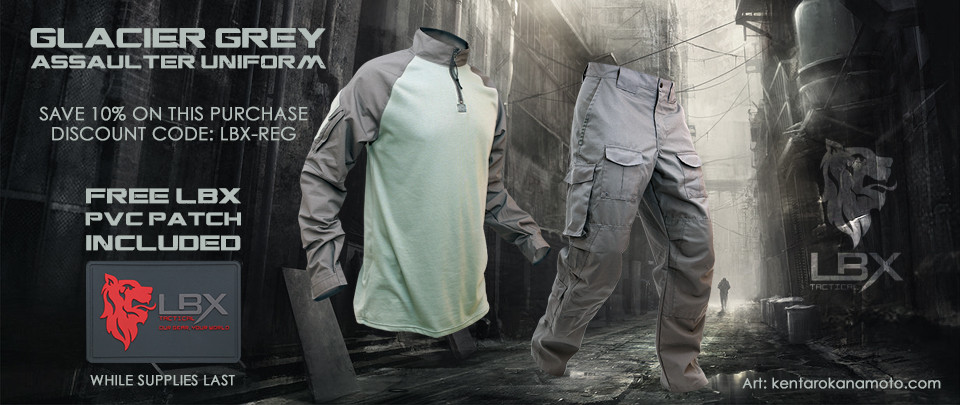 LBX Tactical Glacier Grey assaulter uniform