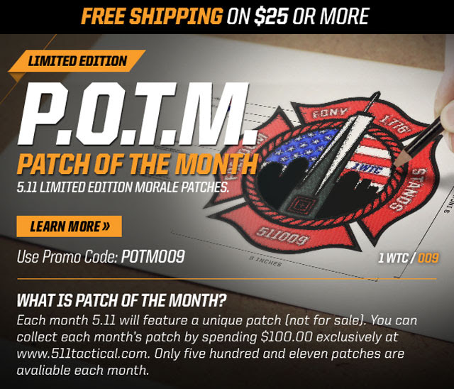 5.11 Tactical PATCH OF THE MONTH