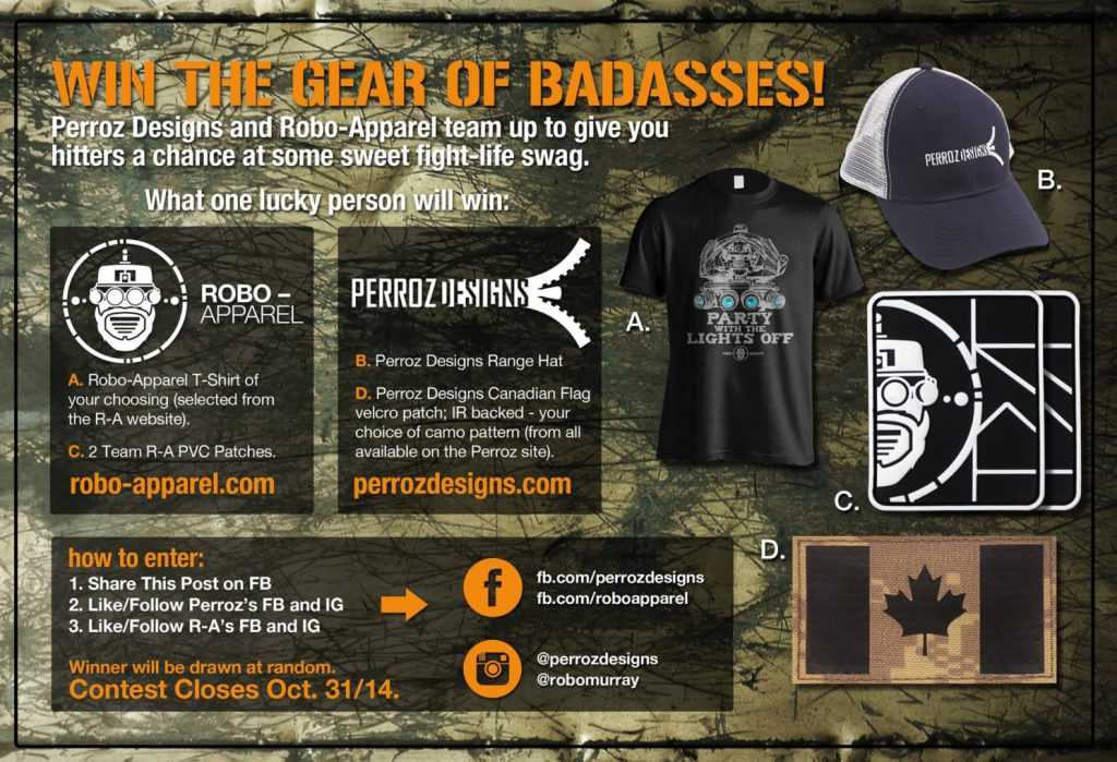Robo-Apparel and Perroz Designs giveaway