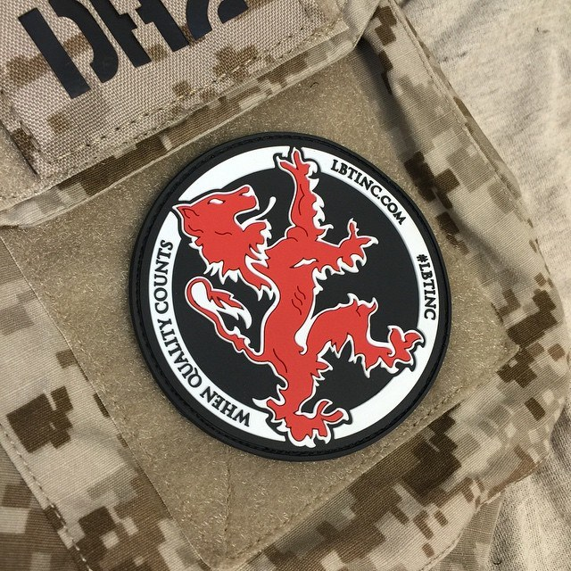 LBT RedLion logo PVC patch