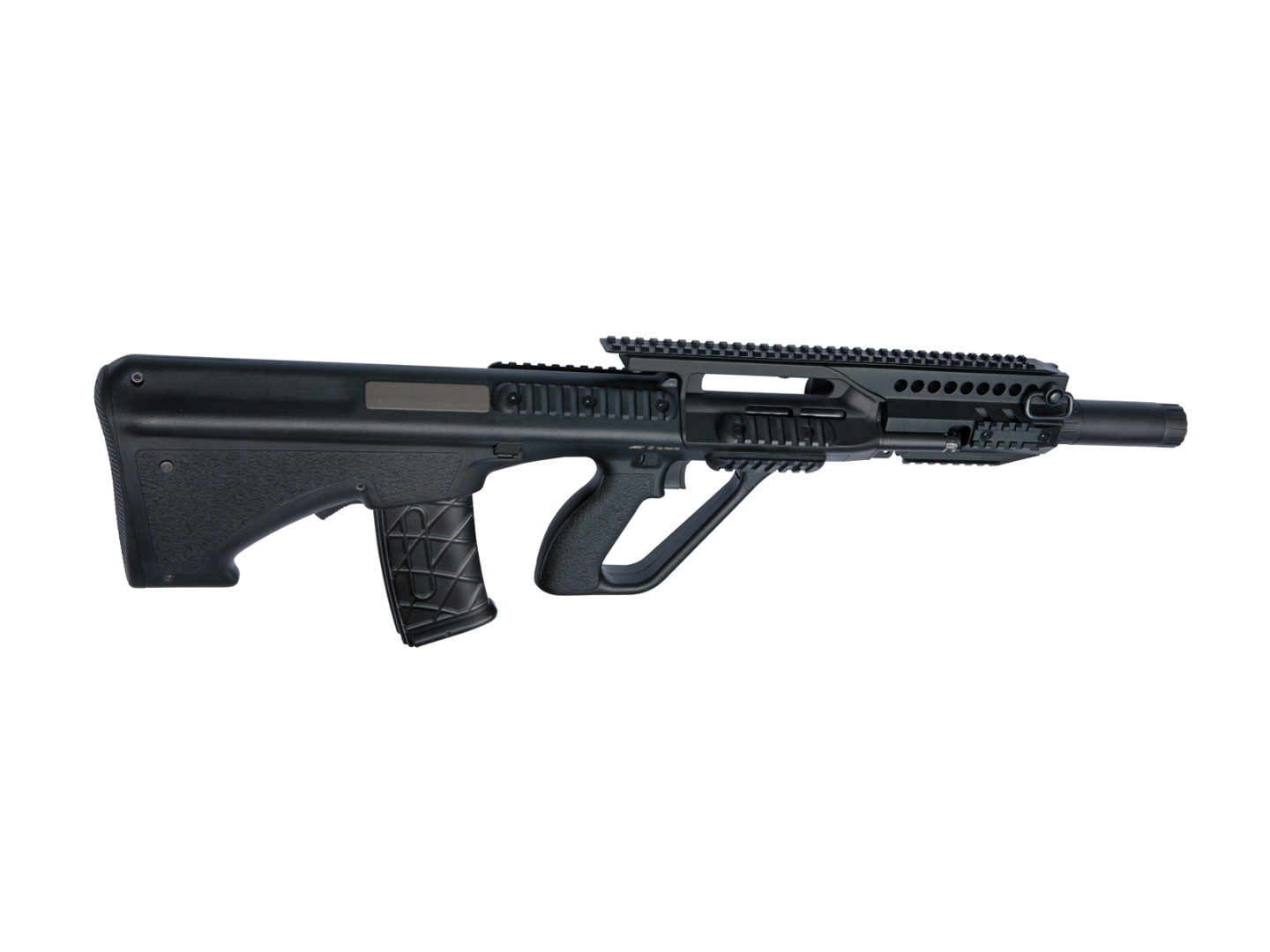 Asg new steyr aug a3 mp available the aug a3 mp is a compact airsoft weapon with a full length barrel 530mm giving long range rifle accuracy in a cqb sized gun making this steyr aug the voltagebd Gallery