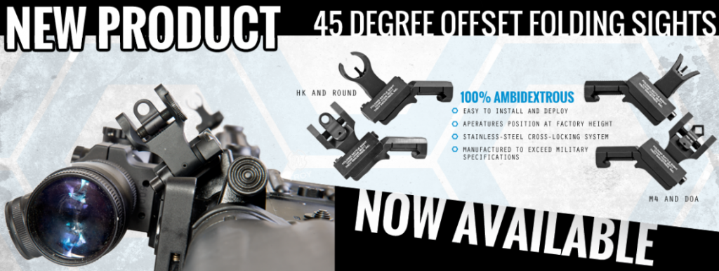 troy industries 45 degree offset folding sights