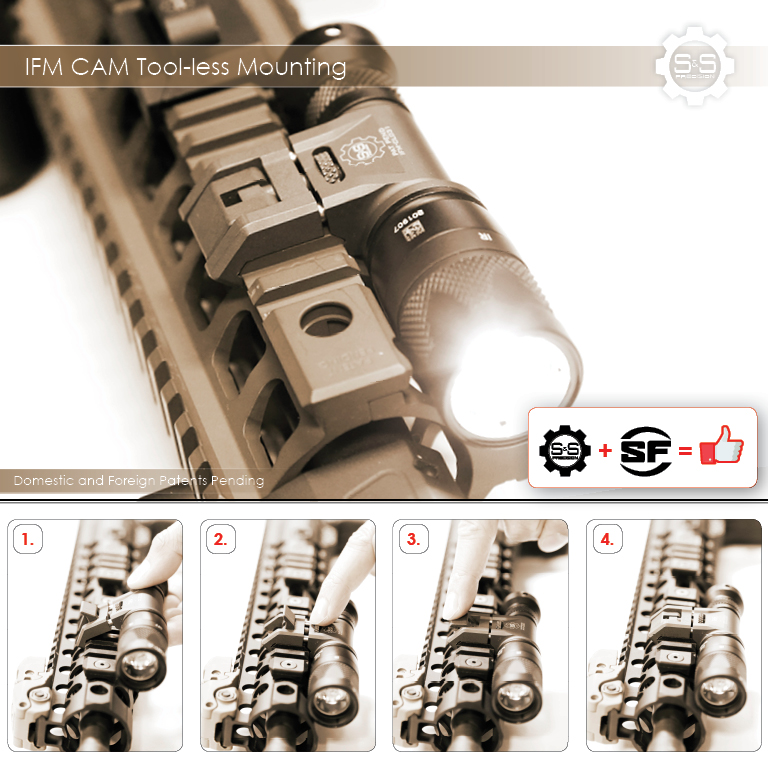 S&S Precision Integrated Flashlight Mount