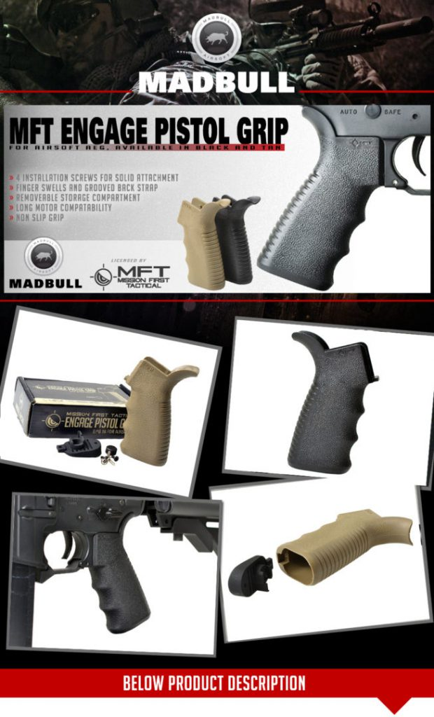 MFT industries ENGAGE pistol grip 16 for Airsoft