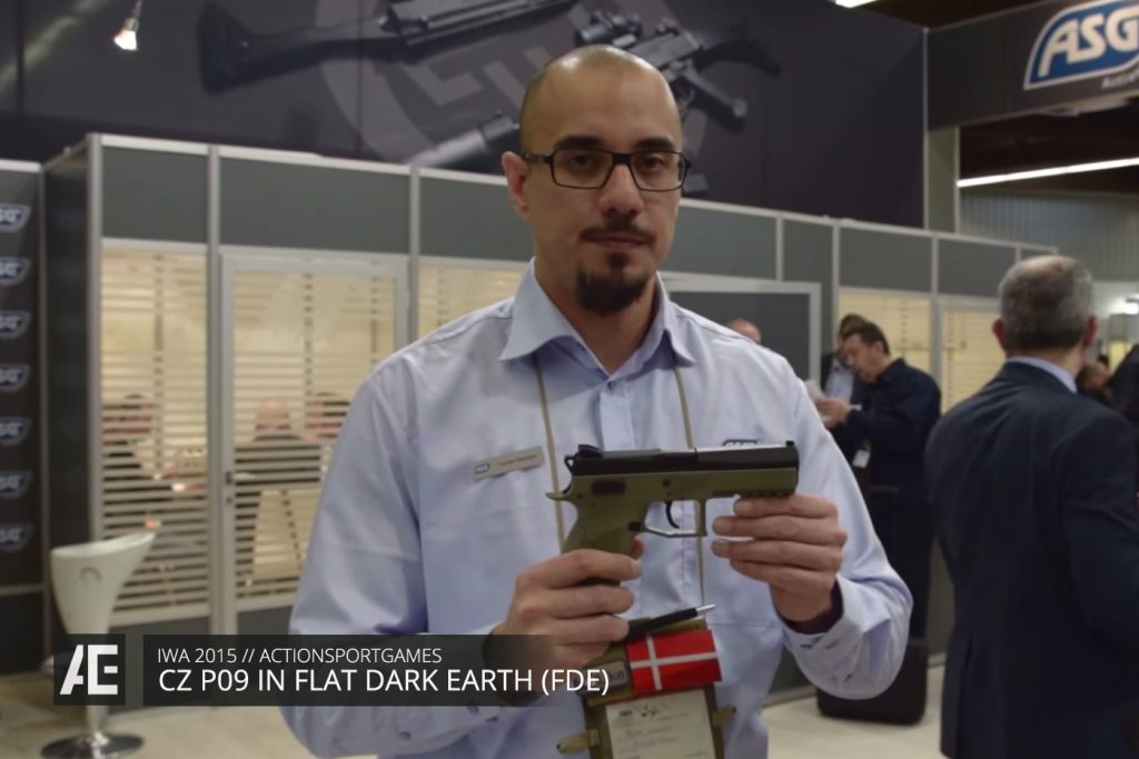 IWA 2015 - ASG CZ P09 IN FLAT DARK EARTH (FDE)