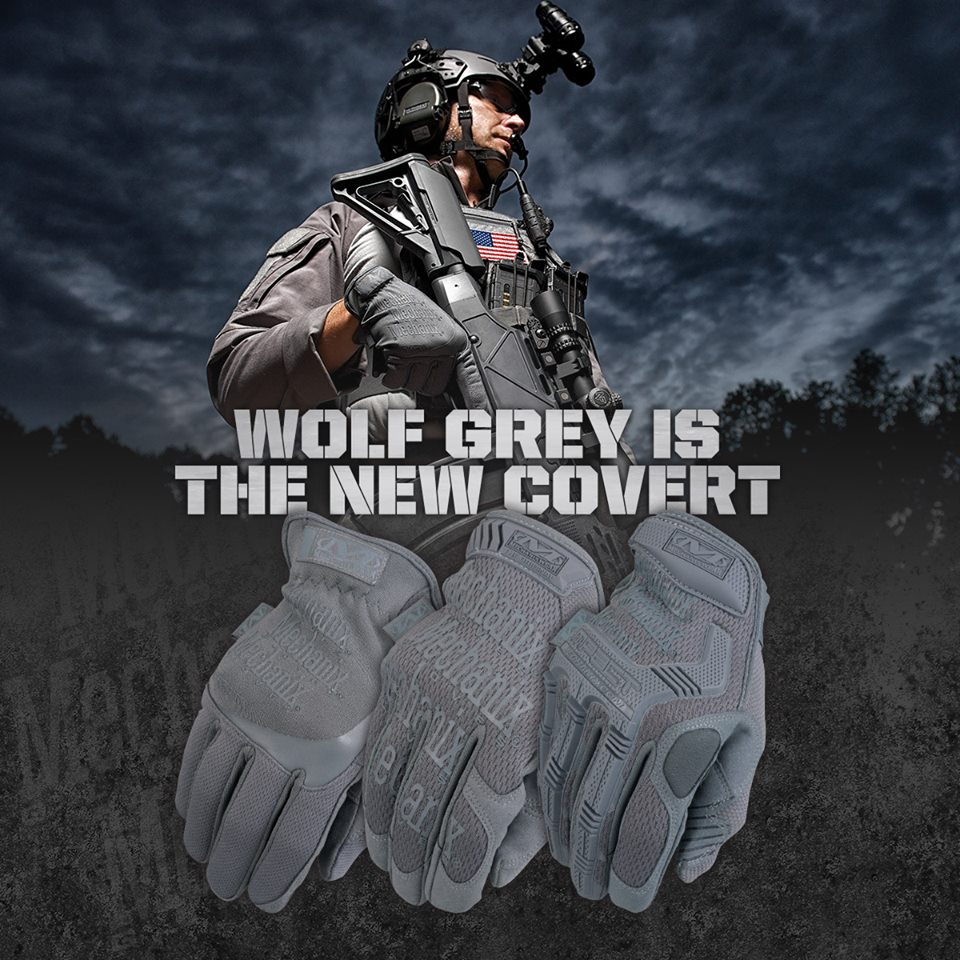 Mechanix Wear Wolf Grey Gloves