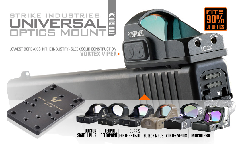 Strike Industries Universal Optics Mount for Glock