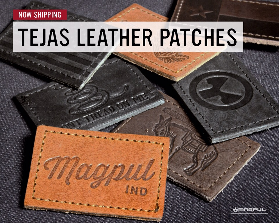 Magpul Tejas Leather Patches