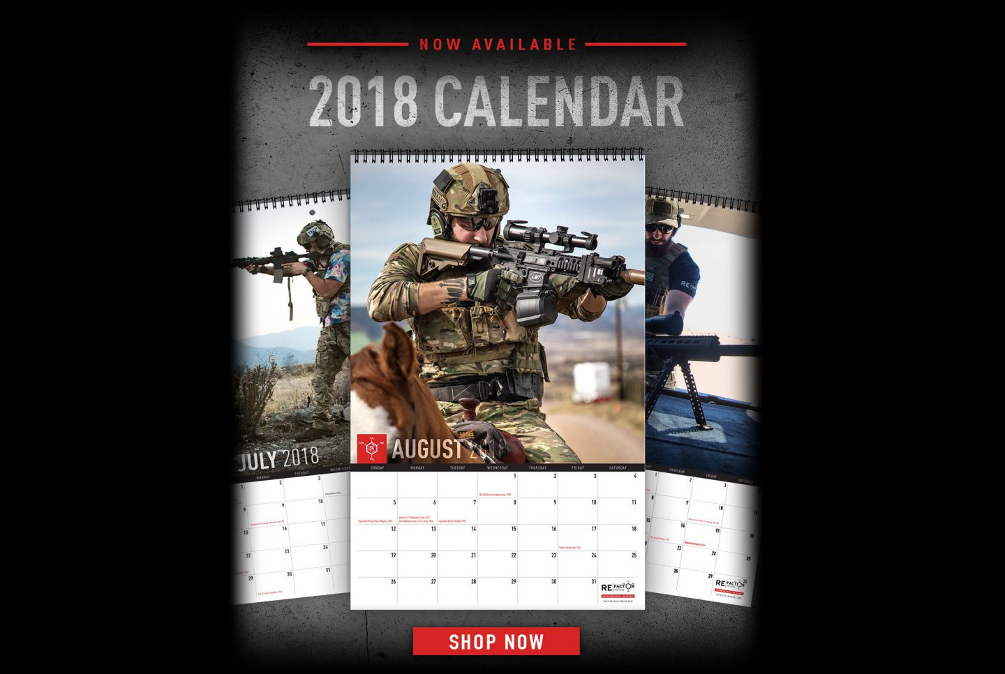 RE Factor Tactical – 2018 Calendars Now Available!   Airsoft