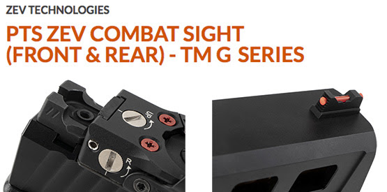 ZEV Combat Sights